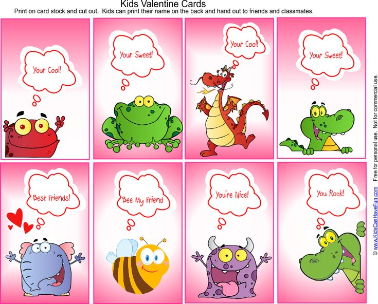 Kids Valentine S Day Cards Valentines Day Ideas Candy