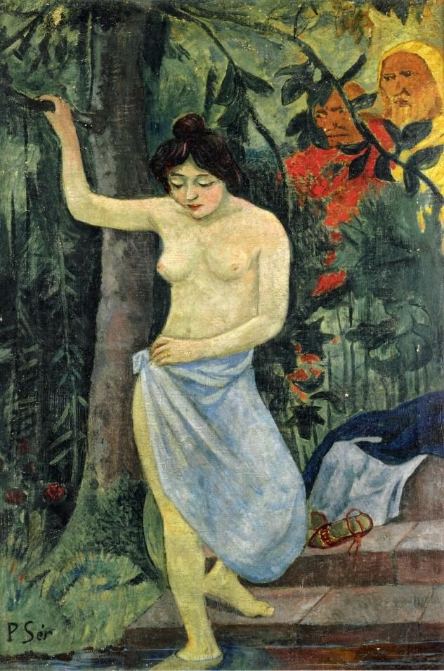 Paul Serusier(1864ー1927)「Susana y los viejos (Susanna and the elders)」