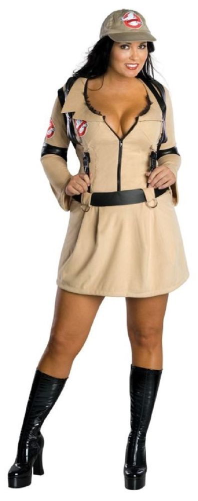 Plus Size Ghostbusters Female Detective Costume Halloween  (Sz 16-20) #Morris…