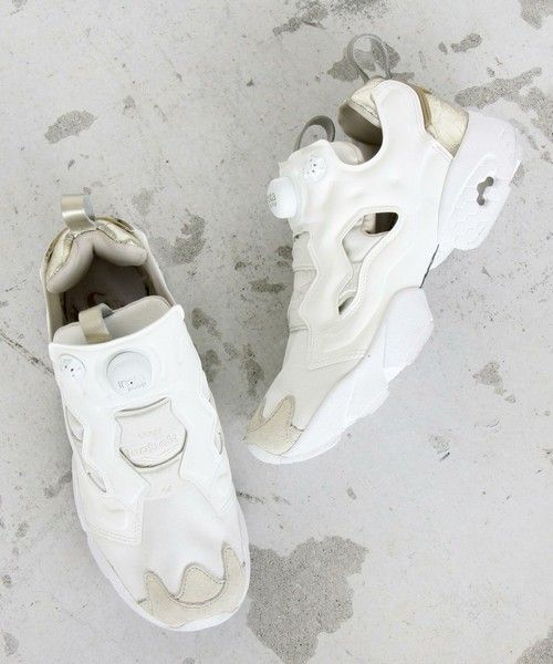 BEAUTY&YOUTH WOMENS()の【予約】【国内exclusive】BY Reebok womens INSTA PUMP FURY/スニーカー(スニーカー)|ホワイト