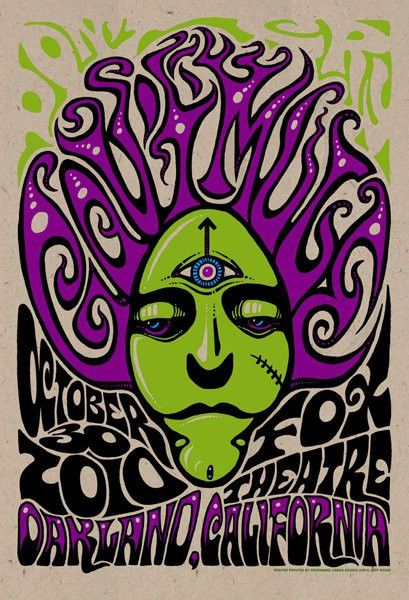 Purchase the 2010 Gov't Mule Oakland Halloween Show Poster by artist Jeff Wood from Zen Dragon Gallery