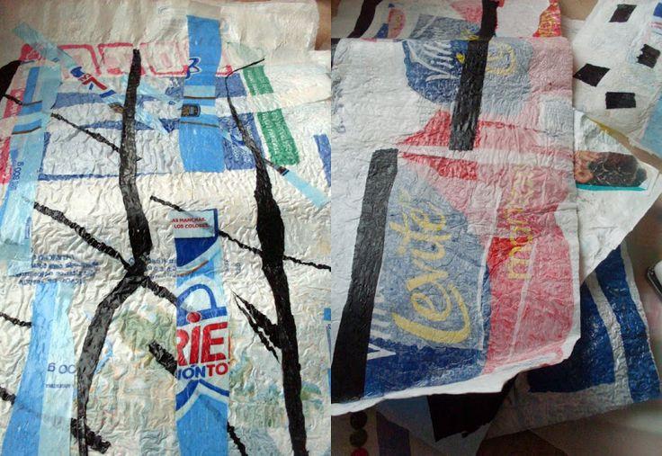 Reciclando bolsas plásticas