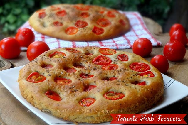 End of the season sweet and succulent tomatoes make lovely Focaccia