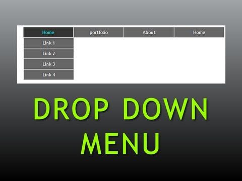 Dreamweaver Tutorial : Pure CSS Drop down menu , Part -1 - YouTube ------ best walkthrough #css #dropdownmenu