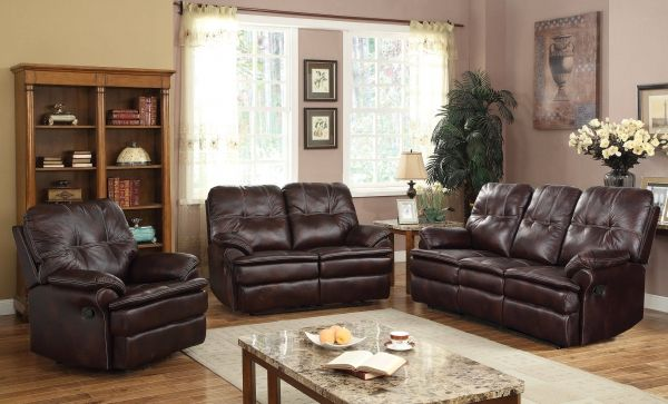 The Zamora Durable And Comfortable Polished Microfiber Motion Set Features Padded Arms Seat Tufted Back Sofa Loveseat Recliner Will