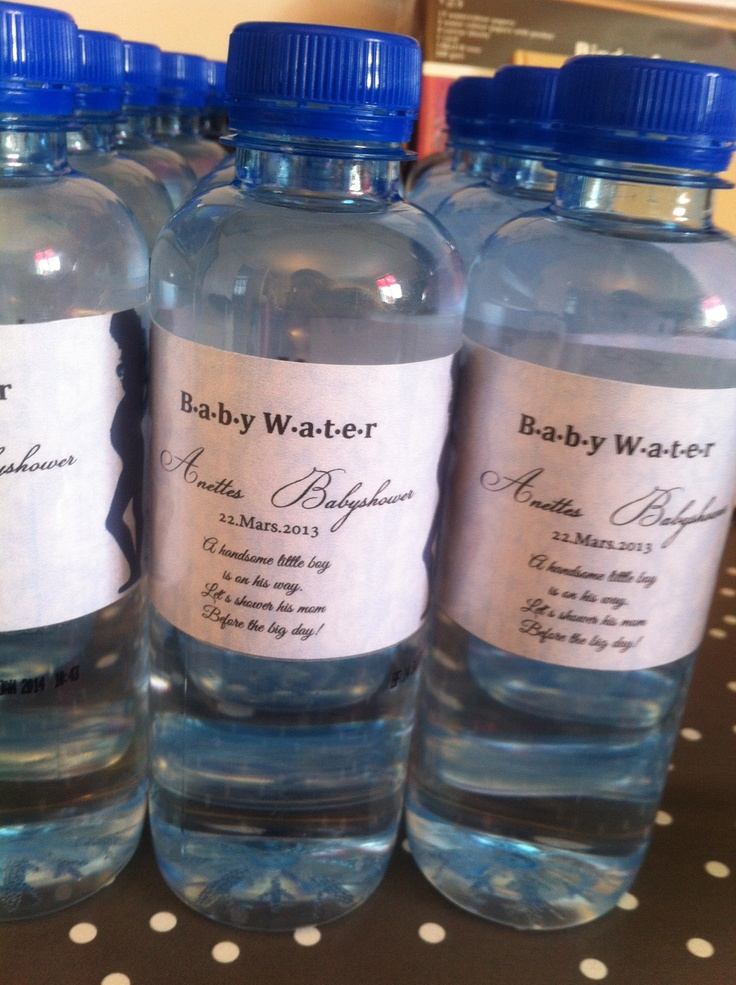 Water bottles for baby shower
