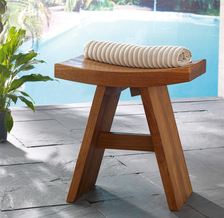 Aqua Teak - 323 Floor S&le Classic Teak Shower Stool-From the Asia Collection & Best 25+ Teak shower stool ideas on Pinterest | Shower bench teak ... islam-shia.org