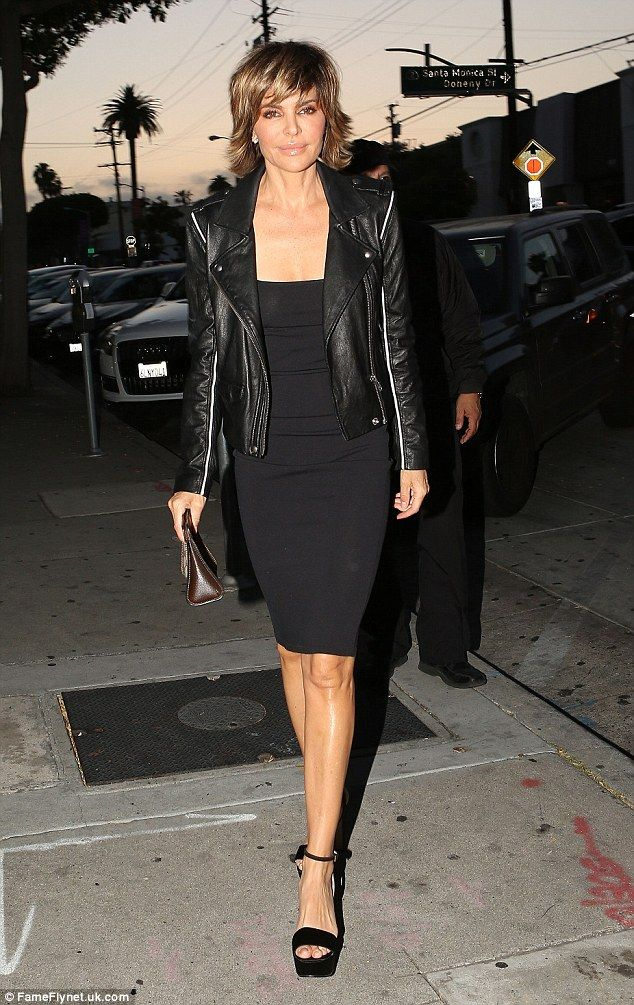Black chic:Lisa Rinna was seen dining out at celebrity hotspot Craig's in West Hollywood with her husband, Harry Hamlin, on Thursday evening