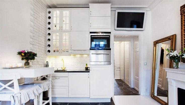 Освещение кухни в квартире-студии