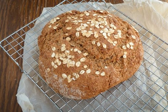 Whole Grain Soda Bread Recipe - have you ever made your own bread before? Try it and be surprised by the crunchy on the outside and soft, warm inside of a rustic loaf that you made.