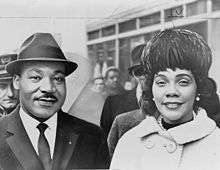 Coretta Scott King (April 27, 1927 – January 30, 2006) was an American author, activist, and civil rights leader. The widow of Martin Luther King, Jr., Coretta Scott King helped lead the African-American Civil Rights Movement in the 1960s.