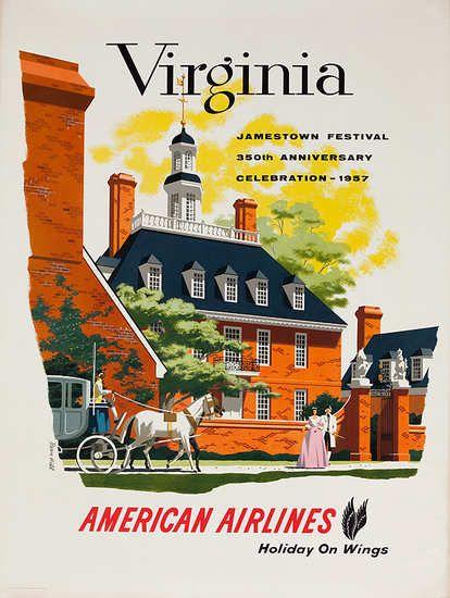 Vintage Travel Poster Virginia