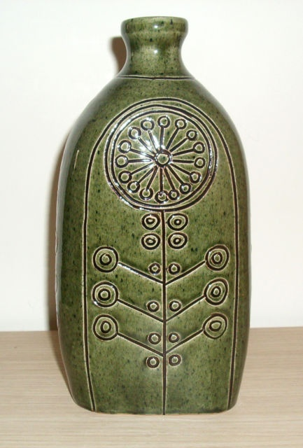 Hungarian pottery, very typical sideboard decoration in country houses.
