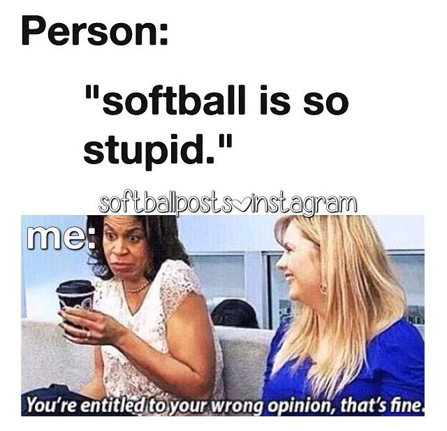 Softball, hahahahahahahahahahahahahahahahaha OMG I totally remember this episode lol