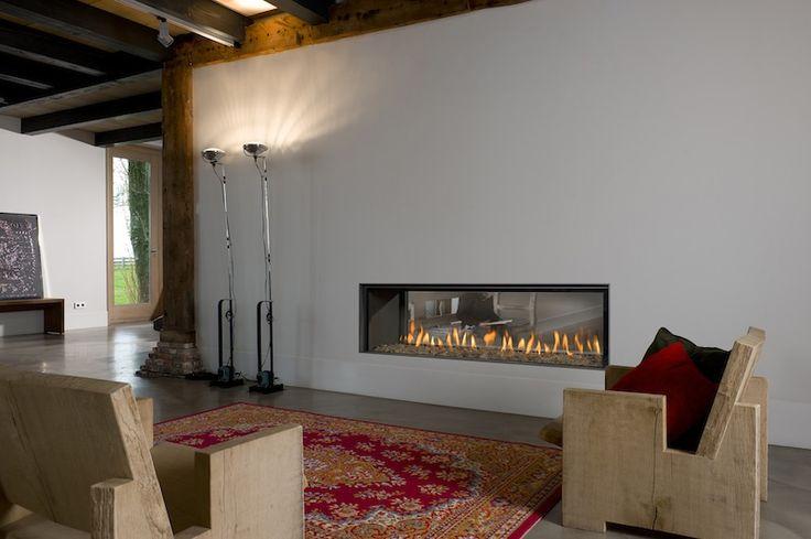 horizontal fireplaces - Google Search