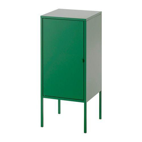 LIXHULT Kast - metaal/groen - IKEA. Naast bureau
