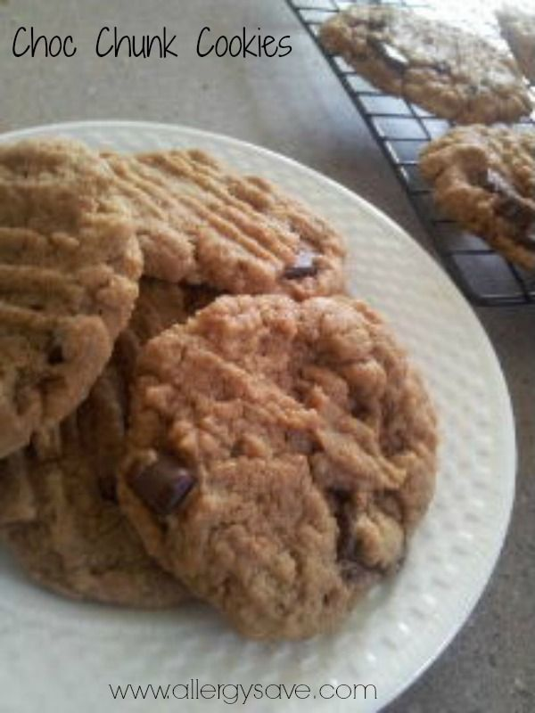 Chocolate Chunk Cookies!  #allergyfree #glutenfree #nutfree #eggfree #dairyfree #soyfree #easterrecipes #allergyfriendly   Recipe available in Easy Allergy Free Easter (eBook)