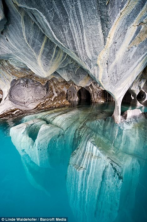 The Marble Cathedral, General Carrera Lake, Chile