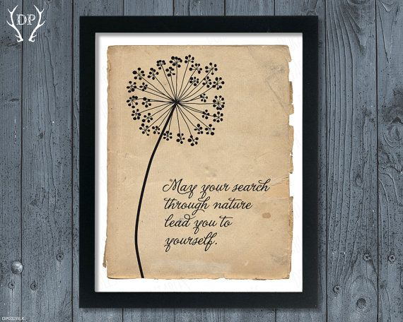 Dandelion Inspirational Quote Rustic Background Wall Printable Art Instant Download