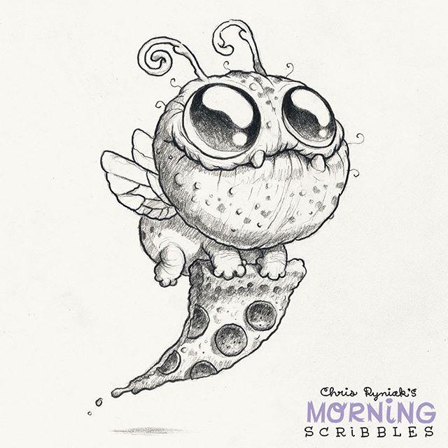 Pizza bug! #morningscribbles #pizza