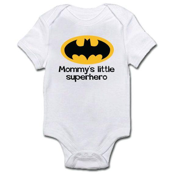 Superhero Baby Onesie Romper Baby Bodysuit  by Makeitpersonalsc, $19.00