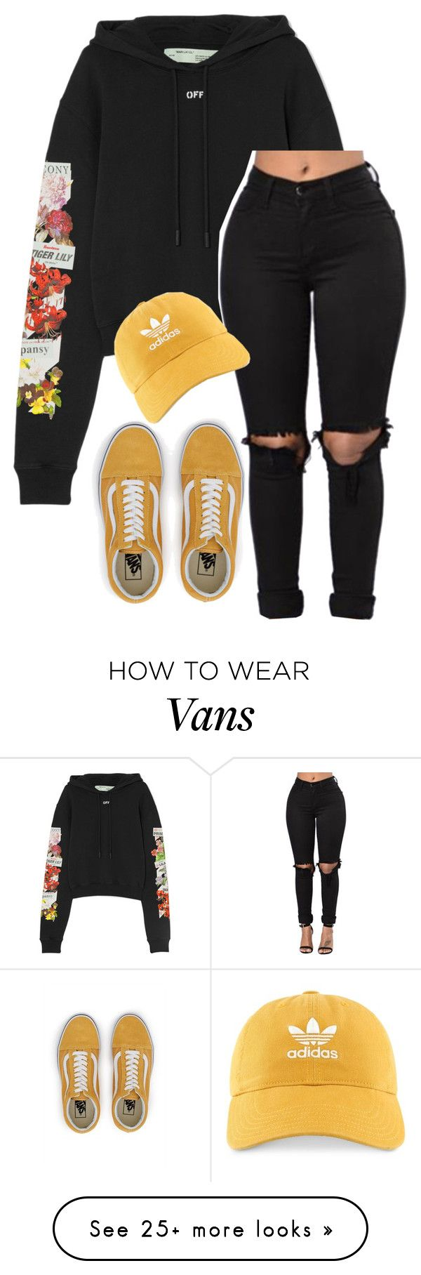 """""""Untitled #770"""" by justinbieber-zaikara on Polyvore featuring Off-White, adidas and Vans"""