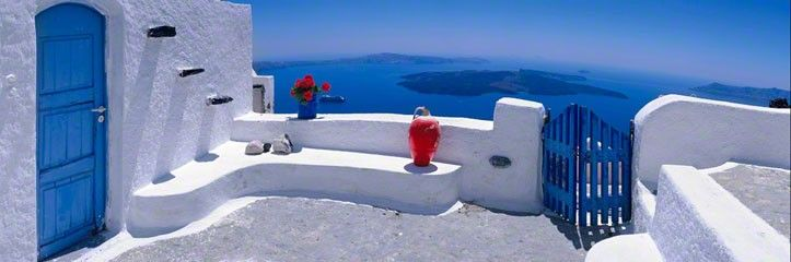 Santorini = my wedding palette, finally.  (only sub-in charcoal gray suits for the dove gray). happy.