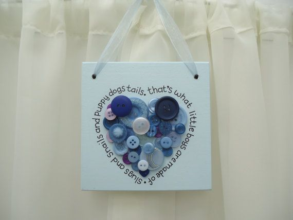 Handmade 'Slugs and snails' wooden plaque on Etsy, £12.00