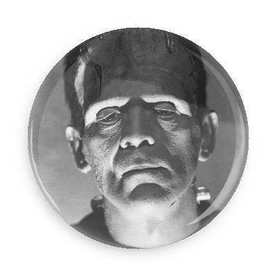 Frankenstein Monster Pin Back Button