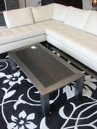 love this local custom made iron coffee table