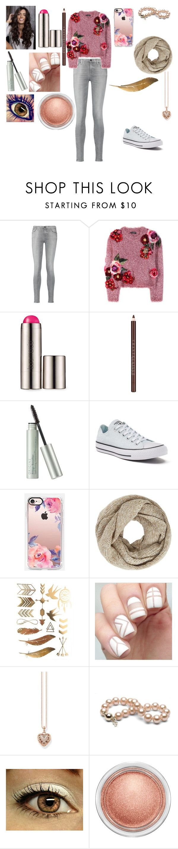 """""""Yasmine #1"""" by kei-lily-amethyst on Polyvore featuring 7 For All Mankind, Dolce&Gabbana, Laura Mercier, Chantecaille, Origins, Converse, Casetify, John Lewis, Thomas Sabo and MAC Cosmetics"""