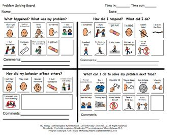 Hands-on activity that can be used to help students in primary or junior grades debrief after a something upsetting happened at school. Should be used with a teacher support.Program independently created and copyrighted by Erin Duncan of Helping Hearts and Hands Ottawa 2016.All Images copyright of.Mayer-Johnson2100 Wharton StreetSuite 400Pittsburgh, PA 15203Phone: 1 (800) 588-4548Fax: 1 (866) 585-6260Email: mayer-johnson.usa@mayer-johnson.comWeb site: www.mayer-johnson.com