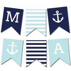 Free Printable Nautical Banner | via @Printable Weddings #wedding #printable