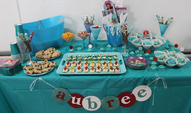 17 best images about 5th birthday on pinterest initials for Ariel party decoration ideas