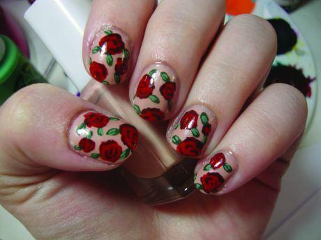 25 gorgeous vintage rose nails ideas on pinterest rose nail vintage rose nail tutorial prinsesfo Gallery