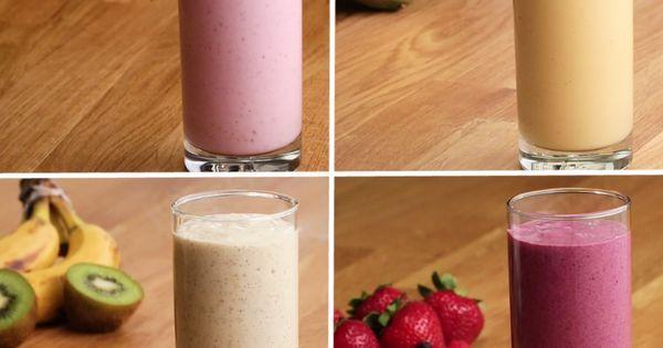 Liked on Pinterest: Freezer-Prep Smoothies 4 Ways