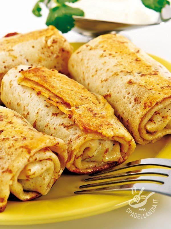 Crepes with artichokes - Come inventarsi un piatto appetitoso in poco tempo e quando la voglia di cucinare scarseggia? Semplice: si preparano delle Crepes ai carciofi!