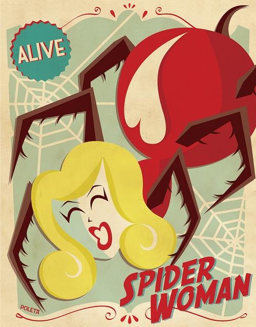 Spider Woman by Poleta Art, via Flickr