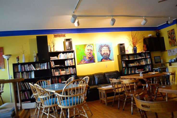 """Books, Art, and Funky touches at The Chatterbox Cafe #travel """"Photo by TurnipseedTravel.com"""""""