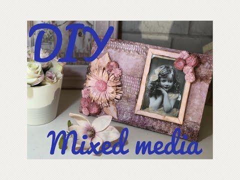 (671) MIXED MEDIA Marco de fotos vintage DIY - YouTube