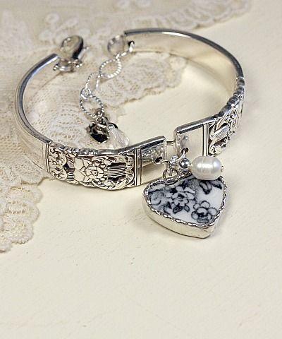 Just love this..vintage silver spoon bracelet