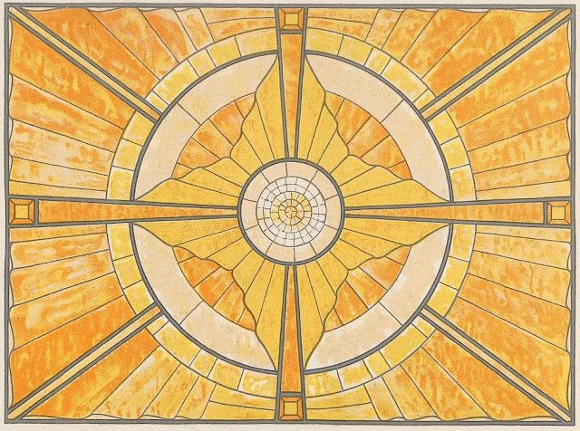 The Textile Blog: Peter Behrens and Decoration as Contemplative Symbol Glass sky light design