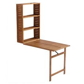 Table balcon 2 en 1 en bois