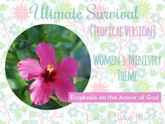 For mom - Luau Party: Tropical Island (Christian Survival) Womens Ministry Theme from Creative Ladies Ministry.