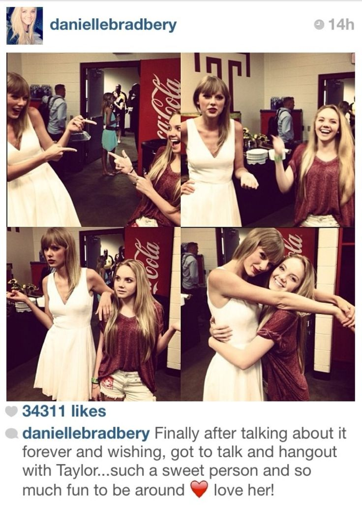 Danielle Bradberry and Taylor Swift