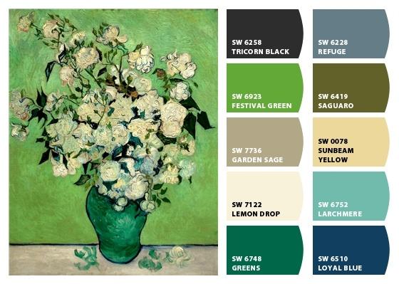 Van Gough Roses: Vans Gough, Chips, Vangogh, O' Keef Paintings, Vincent Vans Gogh, Paintings Colors, Colors Palettes, Paint Colors, Perfect Colors