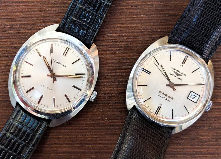 Longines Conquest hand winding Longines Armiral automatic watches  Good old brothers