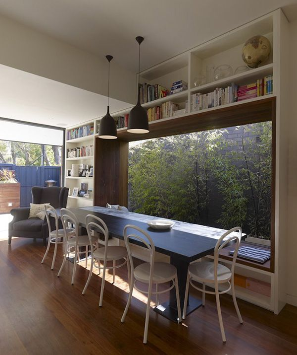 window seat would work well on a side return, especially with screen like bamboo or maybe a water feature? vCDesign is liking this