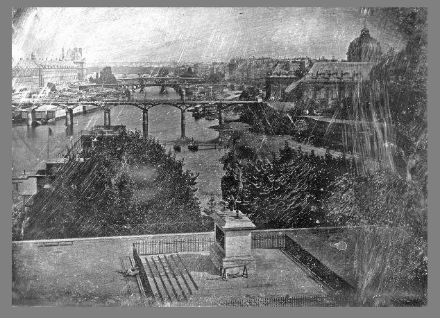 Le Pont Neuf de Daguerre plus ancienne photo de Paris) -1838