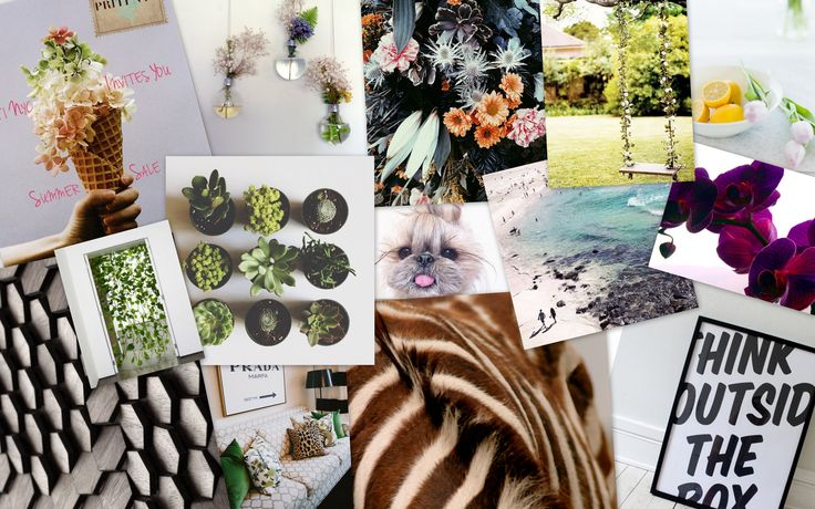 Certificate in Event Planning Student Philippa gave us a great introduction to herself by sharing this inspiration board as part of her first Project.